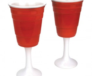 A great way to class up your weekend party, these glasses would work for plain old beer or fancy wine.