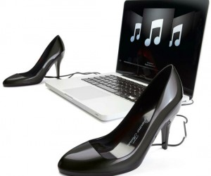 Stiletto Speakers – The most stylish speakers ever, designed after a woman's (or drag queen's) best friend, SHOES!