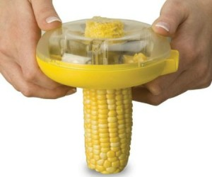 Probably the easiest way to remove kernels from corn.