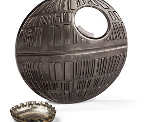 "Star Wars Death Star Bottle Opener – Now you can use an upward ""force"" to remove your bottle caps Vader Style"