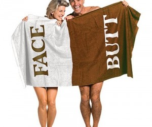 Face Butt Towel – Never mistake your butt for your face again!
