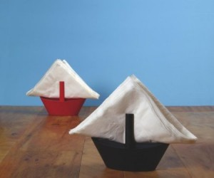 Transform your boring old napkins into tiny sailboats, with these adorable Sailboat Napkin holders