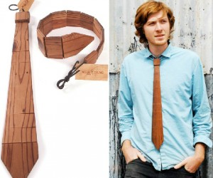 This is knot your average neck tie, wooden fashion accessories are not just for lumberjacks anymore!