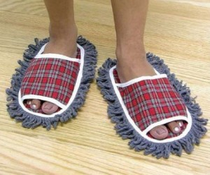 Dust Mop Slippers – You might as well do something productive as you shuffle around your kitchen all day.