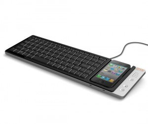 If you have a lot of typing to do on your iPhone your thumbs must be cramping up. Here is a full sized QWERTY keyboard that attaches to your iPhone […]