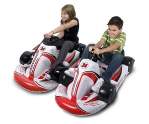 Bring you Mario kart racing experience to a whole new level with the wii inflatable racing Kart! Just watch out for blue shells!