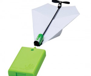 Motorized Paper Airplane – Tired of your paper airplane soaring for a short minute then limply falling to the ground? Put a motor on it and watch it soar forever!