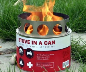 Stove in a can – Not only is it great for hiking and camping, but it would come in very handy during a power outage or zombie apocalypse.