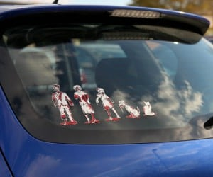 This looks like the kind of family decal that needs to go onto the back of a car in The Walking Dad.