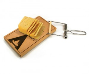 Mouse Trap Cheese Board – Hopefully the mice will think it's a real mouse trap and stay away from your cheese.
