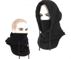 Ninja Hood – Great for keeping your face warm and your identity hidden.