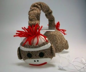 Sock Monkey Headphones – Rock out with your sock monkey out.