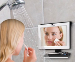 Fogless Bathroom Mirror – No more wiping off the mirror every 2 seconds after you get out of the shower, this mirror is guaranteed not to fog up.