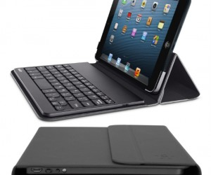 iPad mini laptop case – Turn your iPad mini into a touchscreen laptop with this folding case that also includes a bluetooth keyboard.