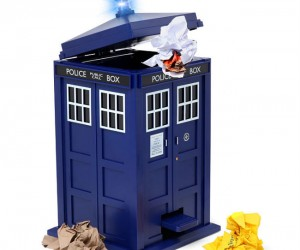 TARDIS Waste Basket – Banish your trash to another dimension.