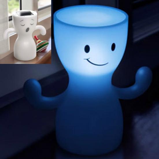 Globoy blue light solar night lamp