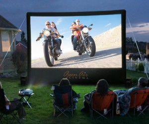 It's so hard to find a drive-in these days, but it's much more relaxing to have your own exclusive back yard theater anyways.