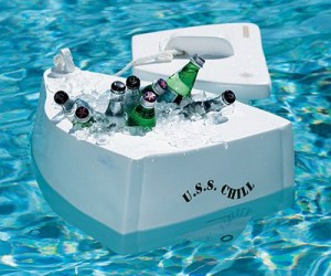 U.S.S. Chill Floating Cooler – Permission to drink? Permission granted!