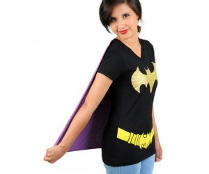 Batgirl Caped Tee – Because Batgirl is much cuter than Batman.
