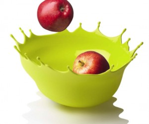 Fruit Splash Bowl – Like a large, soft drop of paint, frozen at the precise moment it hits the table and breaks into a spectacular, colorful spray.
