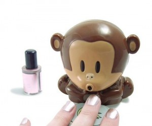 Can't wait for your nails to dry? This little monkey will blow on them for you.