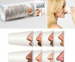 Nose Party Cups – With these cups, it just might be appropriate to pick your friend's noses.
