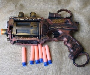 Steampunk Nerf Gun – Complete with real firing nerf darts!