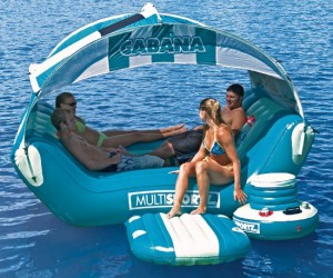 Relax in the shade while you float around on the lake, maybe even drift into a good book!