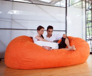 That's not a beanbag chair, that's a freaking beanbag couch! I wonder how many of your friends you could fit on it at once…