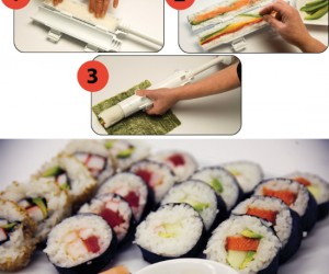 Now you can make your own delicious fresh sushi right at home, much cheaper than going to a sushi bar!