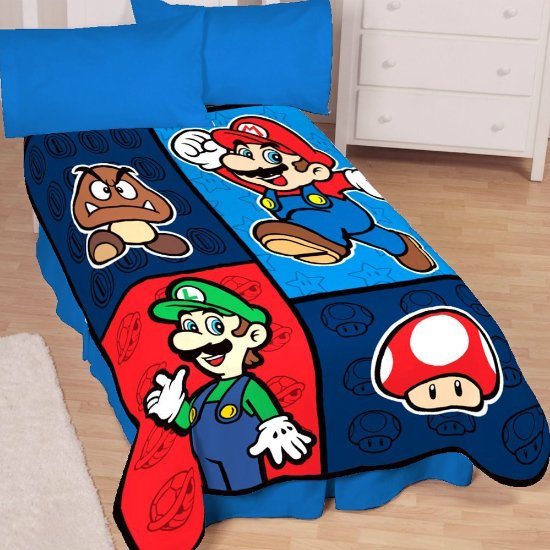 Super Mario Throw Blanket Shut Up And Take My Money