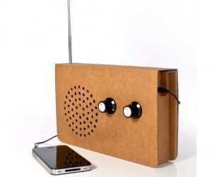 Why would you want a cardboard radio? It's a simple design, it's lightweight, and you can doodle all over it!!
