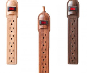Get rid of the unsightly white power strips and class up your home or office with some beautiful wood tones.