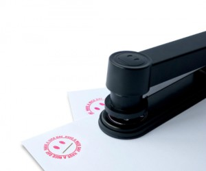 A stamper and stapler in one, saves a lot of time in the office!