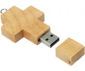 Wooden Cross USB – because Jesus saves.