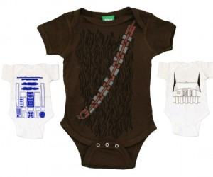 Star Wars Rompers – I wonder if wookies are born covered in fur…