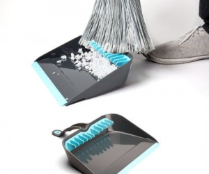 Finally a dustpan that cleans the bottom of your broom!