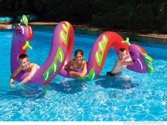 Curly Serpent Pool Toy | Shut Up And Take My Money