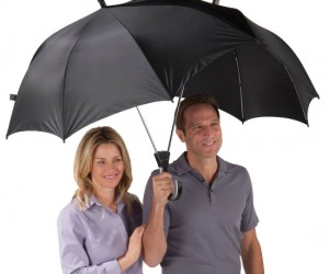 Double Umbrella – You don't have to sacrifice yourself to the rain to keep your girl dry because she doesn't have an umbrella, problem solved.