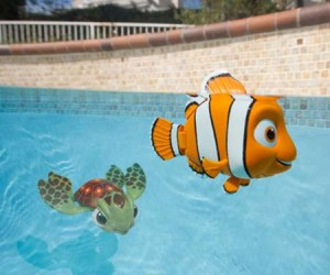Finding Nemo (and Squirt) Swimming Pool Toys – Complete with one fin smaller than the other!