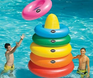 Giant Inflatable Pool Ring Toss – Just the the ring toss you played as a kid only much bigger and wetter.
