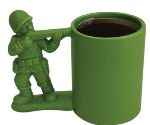 Green Army Man Mug – Your favorite childhood toy all grown up.