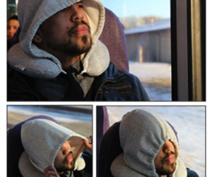 "Hoodie Travel Pillow – Everyone knows when your hood is up, it means ""Do not disturb."""