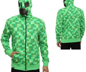 Minecraft Creeper Hoodie – If you like to creep around in the dark you should look the part!