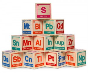 Periodic Table Building Blocks – Maybe I would have passed chemistry if I had these as a kid.