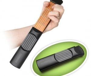 Portable Practice Guitar – Ever wish you could keep your guitar in your pocket so you could practice whenever you had a chance? Well now you can!