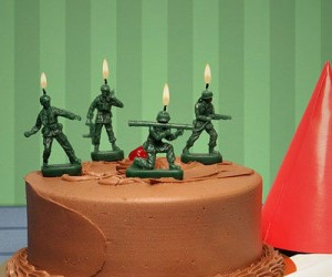 Green Army Man Candles – Better blow them out before they blow you up!