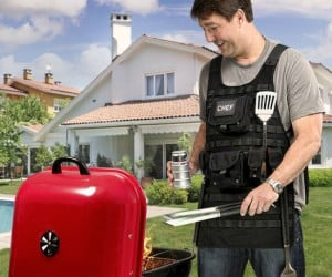 Tactical BBQ Apron – It holds all the weapons necessary to battle outdoor grilling!