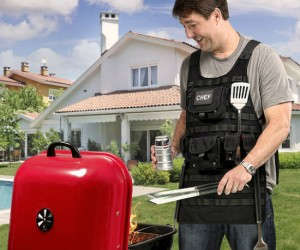 Tactical BBQ Apron – Great for holding all the necessary weapons to battle some outdoor grilling!