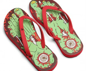 Zombie Flip Flops – The perfect gift for that friend that has feet that smell like they belong to a zombie!
